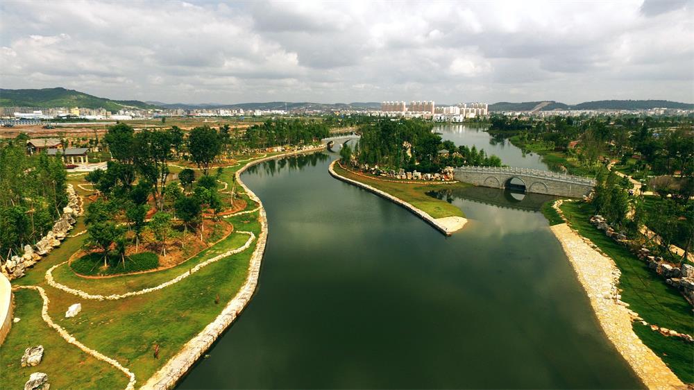 风景园林设计院云南省沾益县西河城市景观河道(公园)规划及绿化景观